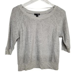 Aqua Light Grey Half Sleeve Modal Sweatshirt XS